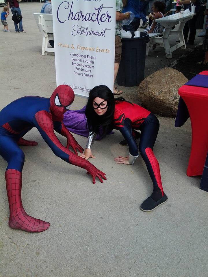 Spider Hero and Spider Girl